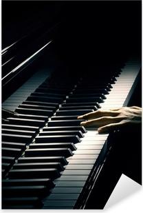 Çıkartması Pixerstick Piyano müziği piyanist eli oyun.