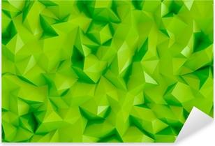 Çıkartması Pixerstick Poligon kireç yeşil 3d üçgen geometrik arka plan