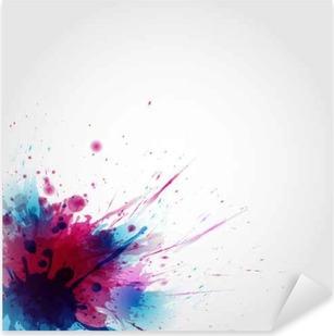 Çıkartması Pixerstick Renklerin Özet sanatsal Geçmiş oluşan leke
