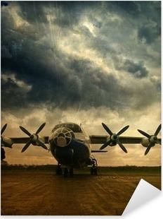 Çıkartması Pixerstick Retro havacılık, grunge background