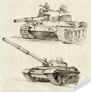 Çıkartması Pixerstick T-54 ve T-55 tankları