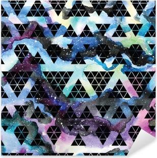 Çıkartması Pixerstick Tribal galaksi seamless pattern.