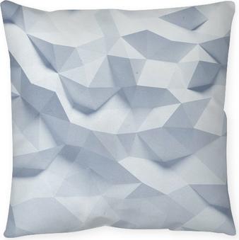 Cojín decorativo Fondo de papel abstracta geométrica facetas