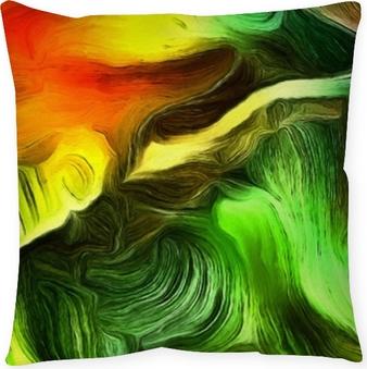 Cojín decorativo Líneas fluidas de movimiento de color