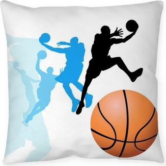 Cojín decorativo Los jugadores de baloncesto