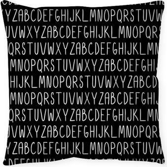 Cojín decorativo Sin patrón con el alfabeto. Vector transparente textura para fondos de pantalla, rellenos de patrón, fondos de página web