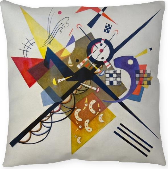 Cojín decorativo Vasili Kandinski - En Blanco II - Reproducciones
