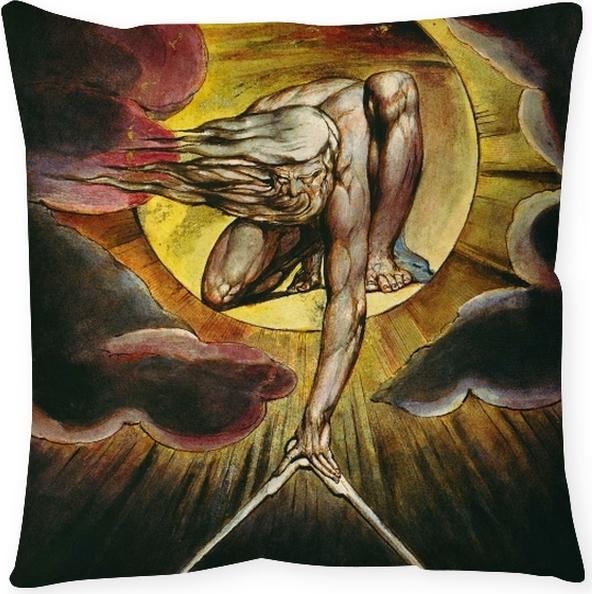 Cojín decorativo William Blake - Dios como un Arquitecto - Reproducciones