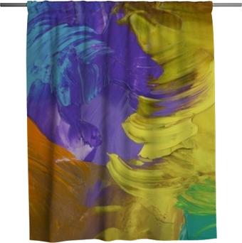 Cortina de ducha Combinación de colores complementarios violeta ultra