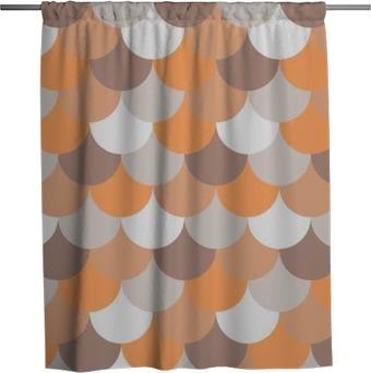 Cortina de ducha Modelo geométrico abstracto sin fisuras