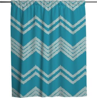 Cortina de ducha Patrón sin costuras étnico boho. garabatear la textura en zigzag. motivo retro relación textil.