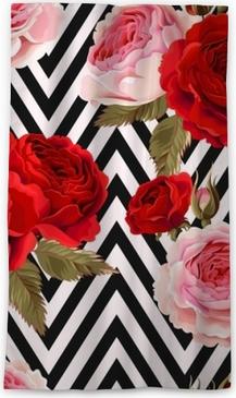 Cortina opaca Patrón sin costuras con rosas
