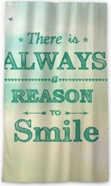 Cortina opaca ¡siempre hay una razón para sonreír!