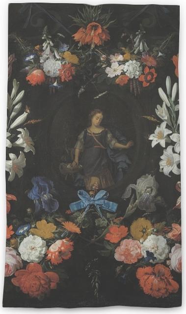 Cortina transparente Abraham Mignon - Garland of Flowers - Reproducciones