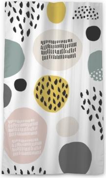 Cortina transparente Patrón de fdashion sin fisuras con mano dibujado manchas, puntos, texturas de pincel. Creativa textura moderna. Ideal para tela, ilustración vectorial textil