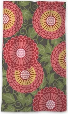 Cortina transparente Tradicionales flores seamless pattern