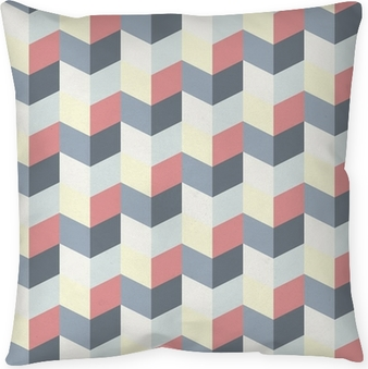 Coussin décoratif Abstract retro geometric pattern