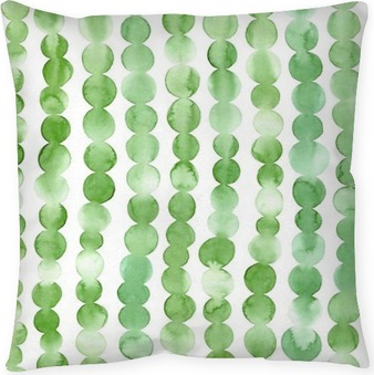 Green Dots Coussin