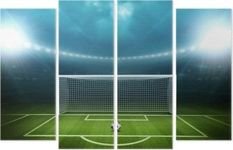 Cuadríptico Estadio con balón de fútbol