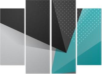 Cuadríptico Fondo de diseño abstracto azul y negro