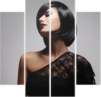 ffb61bd05a Vinilo Pixerstick Mujer morena retrato. estilo de pelo corto negro. Belleza  de la moda • Pixers® - Vivimos para cambiar