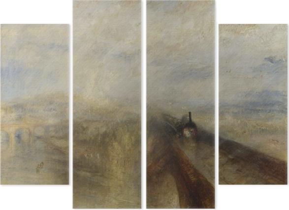 Cuadríptico William Turner - Lluvia, vapor y velocidad - Reproducciones