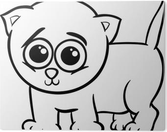 Gatito Del Bebé Para Colorear De Dibujos Animados