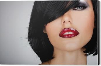 f0f3b39987 Fotomural Hermosa mujer morena con el peinado de tiro con gafas de sol rojas  • Pixers® - Vivimos para cambiar