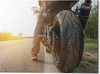 Cuadro en Dibond Moto en el lado de la calle