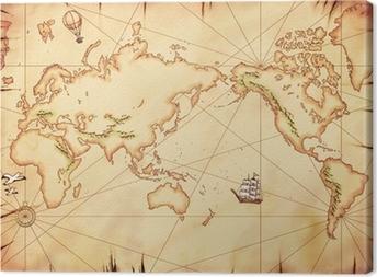 Cuadro en Lienzo 古 い 世界 地 図