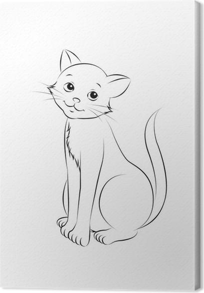 Cuadro en Lienzo 12 sesión del gato para colorear contornos Mundo ...