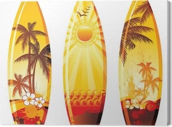 Cuadro en Lienzo 3 tablas de surf