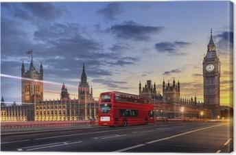 Cuadro en Lienzo Abadía de Westminster, el Big Ben de Londres