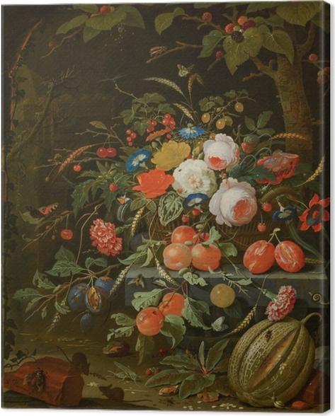 Cuadro en Lienzo Abraham Mignon - Flowers and Fruit - Reproducciones