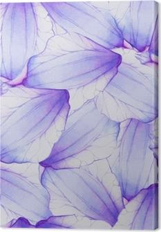 Cuadro en Lienzo Acuarela de patrones sin fisuras con pétalo de flor púrpura