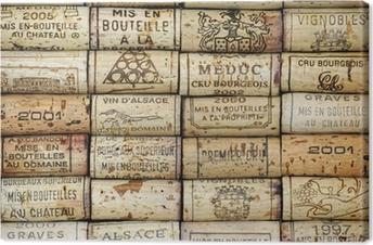 Cuadro en Lienzo Antecedentes de corchos de vino
