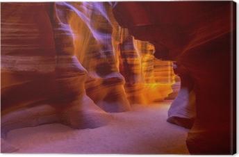 Cuadro en Lienzo Antelope Canyon Arizona en tierra Navajo cerca de página