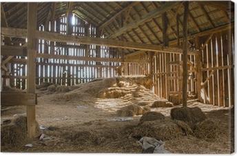 Cuadro en Lienzo Antiguo granero lleno de heno