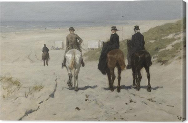 Cuadro en Lienzo Anton Mauve - Paseo a caballo matutino en la playa - Reproductions