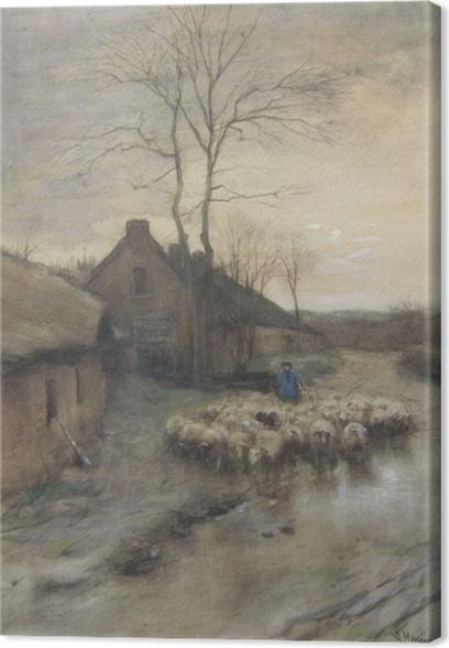 Cuadro en Lienzo Anton Mauve - Pastor con ovejas en 't Gooi - Reproductions