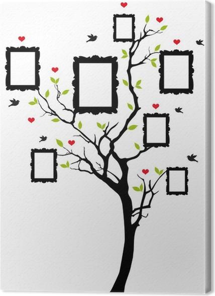 Cuadro en Lienzo Árbol de familia con marcos, vector • Pixers ...