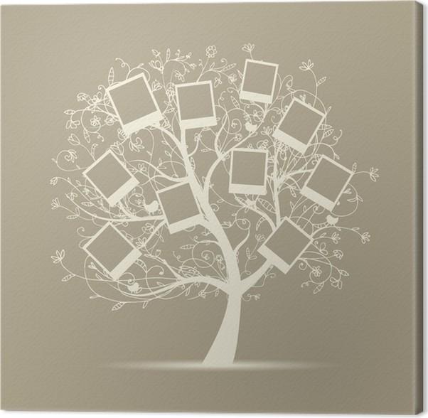 Cuadro en Lienzo Árbol genealógico diseño, insertar sus fotos en ...