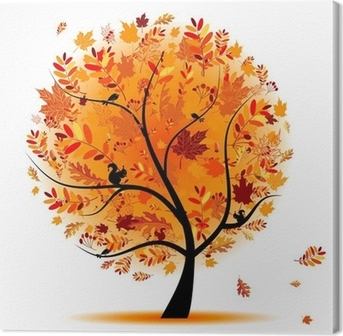 Cuadro en Lienzo Árbol hermoso del otoño para su diseño