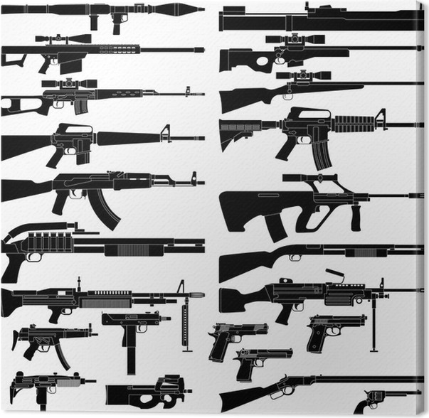 Cuadro en Lienzo Arma • Pixers® - Vivimos para cambiar