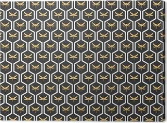 Cuadro en Lienzo Art Deco patrones sin fisuras papel pintado de la vendimia del vector.