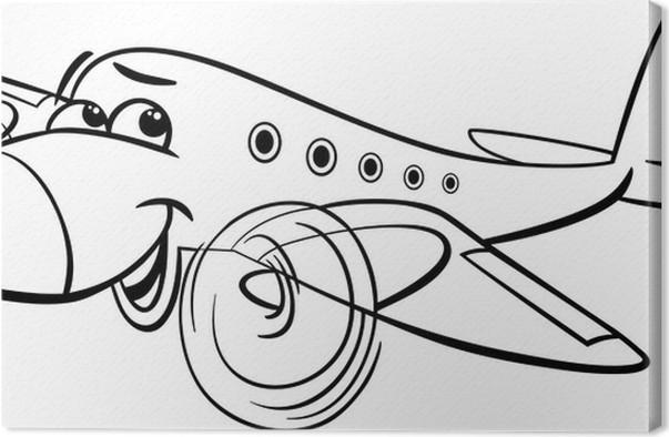Cuadro en Lienzo Avión de aire para colorear de dibujos animados ...
