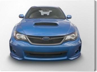Cuadro en Lienzo Azul coche deportivo