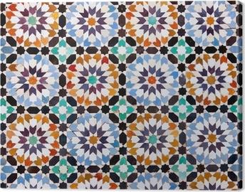 Cuadro en Lienzo Azulejos marroquíes en Marrakech