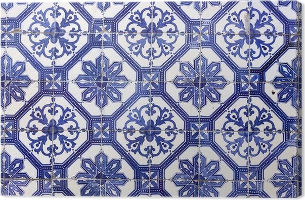 Cuadro en lienzo azulejos portugueses tradicionales azulejos lisboa europa pixers - Azulejos portugueses comprar ...