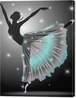 Cuadro en Lienzo Bailarina Danza Classica-Classic Star Dance Dancer-Vector